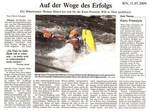 Westfälische Nachrichten, 11.07.09 (Auflage ca. 210.000)