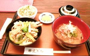 愛宕庵の天丼とおろし蕎麦ねw