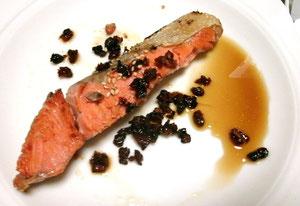 夕飯は鮭のドライトマトソースですw
