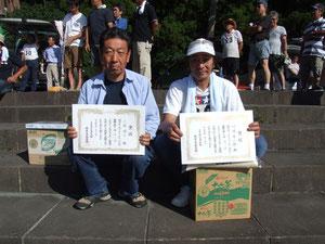 MA級入賞者 左より3位小室修二 優勝川辺有一郎