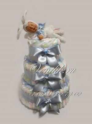 """© Торт из подгузников """"Заюшкины сны-5"""""""