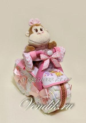 Мотоцикл из памперсов ©