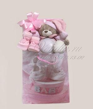 """Подарочный набор для девочки """"Мишка- Светик""""ина для новорожденной девочки """"Милая Овечка"""""""