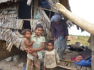 農村部の家庭の様子