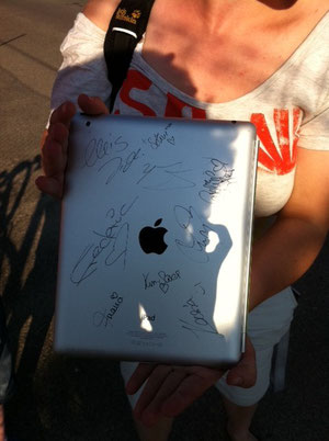 Pat's Ipad, which no one managed to drop