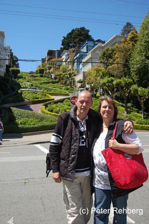 San Francisco: Vor der Lombard Street