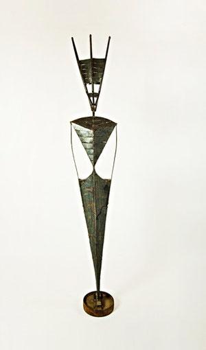 Voodoo, 36 x 30 x 227 cm,  Eisen Kunstharzlack, 1994