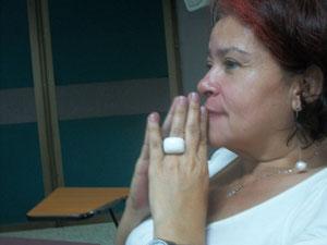 La profesora Luz Dary Echeverry, escritora de narrativa e integrante del Área de Lenguaje de la USC.