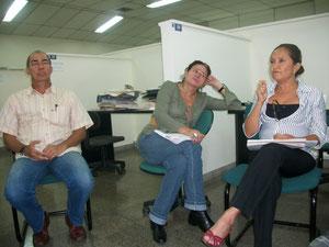 Bernardo Valdivieso, Luz Dary Echeverry y nuestra Directora