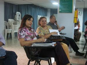 Docentes del Área de Lenguaje de la USC: Gladys Hurtado, Silvia Rojas y Bernardo Valdivieso