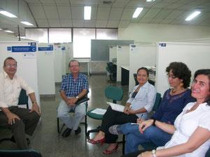 Germán Giraldo, José E. Echeverry, Liliana Gómez, Gladys Zamudio y Adiela Trejos