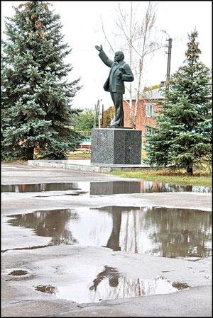 Ленин и в дождь и снег. фото Александра Тихонова