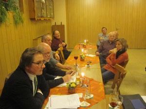 Aufmerksam verfolgten die Gäste von der FBL Braubach, Bürgermeisterkandidat Holger Puttkammer und Fraktionssprecher Heinz Scholl, die Diskussionbeiträge und berichten über die eigenen Themenschwerpunkte.
