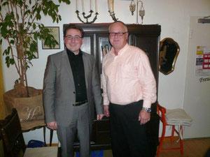 Holger Puttkammer mit Vorsitzendem FWG Kaub Uwe Bernd