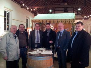 Die Braubacher FWG/FBL Vertreter zu Gast bei Kultur im Winzerkeller