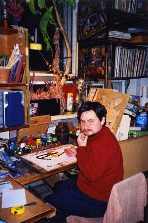 MISHA SCHIGOLEV nel suo art-studio