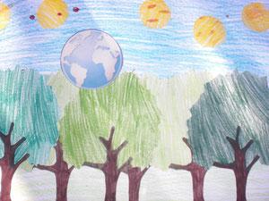 Der Wald trägt die ganze Welt. Er sorgt für gute Luft.