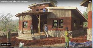 Eines deer neu gebauten Häuser im Kinderdorf