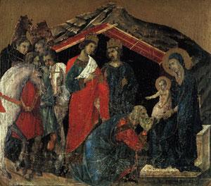 Adoración de los Magos, Duccio de Buoninsegna