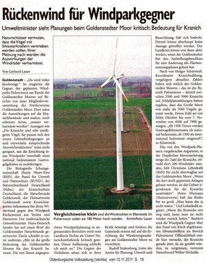 OV vom 10.11.2011  --> Anklicken zum Lesen