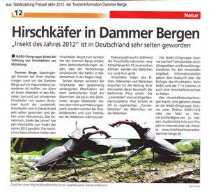 Tourist-Information Dammer Berge    vom April 2012