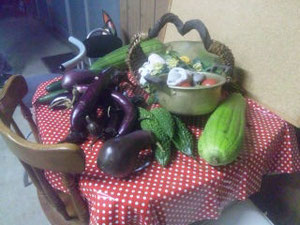 なかさんの野菜を収穫しました、なかさんありがとうございます