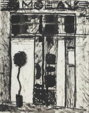 MOLLANS   2010  Chinatusche auf Papier  52 x 41 cm