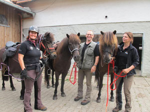 das Team Mittelfranken: Steffi, Hans und Alex