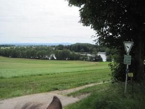 Blick auf den Leitgeringer See (anklicken zum Vergrößern)