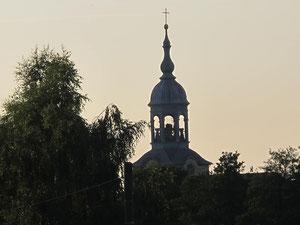 der Kirchturm von Großwaltersdorf