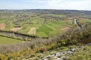 La mosaïque agricole autour de Saint-Léon-sur-Vézère (Photo : T. DEGEN)