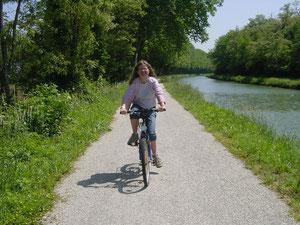 cyclisme voie verte canal latéral à la garonne