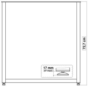 pied de table en métal pour cuisine largeur 70 cm