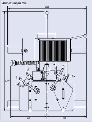 Abmessungen Langlochbohrmaschine