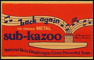 Boîte 24 kazoos métal