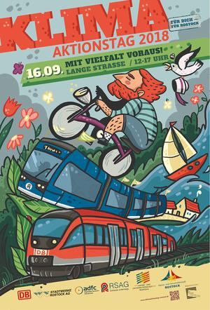 Klimaaktionstag Rostock, Illustration, Plakat