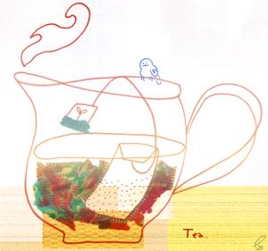 お茶はいかが?/マスキングテープ Illustrator CS2 2012,3.5