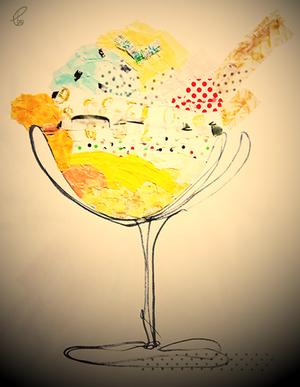 夕べのアイス/彩 マスキングテープ PhotoshopCS6 2012,7.24