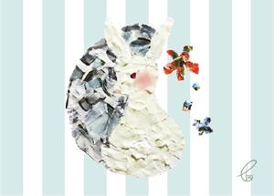 うさぎかがみ/マスキングテープ 2012,11.11
