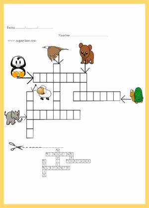 crucigramas con gráficos infantiles