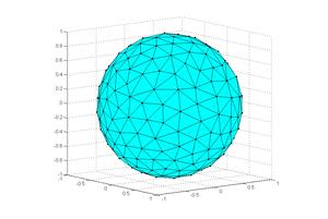Calcul de maillage régulier de la sphère par minimisation de fonctionnelle. Recuit simulé