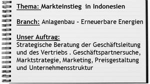 Indoconsult Projekt Markteinstieg Indonesien