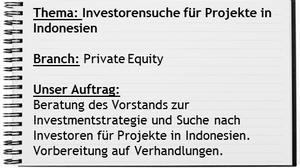 Indoconsult Projekt Investorensuche Indonesien