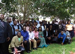 participants à l'atelier de structuration de la plateforme nationale REDD