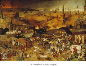 """""""Le Triomphe de la Mort"""" - Oeuvre de Pieter Brueghel ou Bruegel dit l'Ancien, peintre et graveur de Brabant-Septentrional (1525/1569). Cliquer pour agrandir."""
