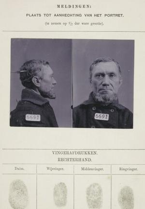Signalementkaart Veenhuizen opname 18-04-1899