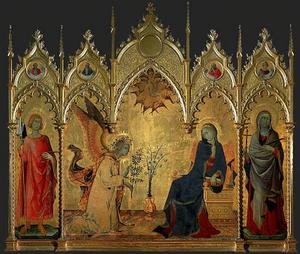 Anunciación. Simone Martini.1333.Uffici