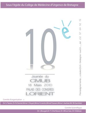 Affiche pour la dixième journée du CMUB