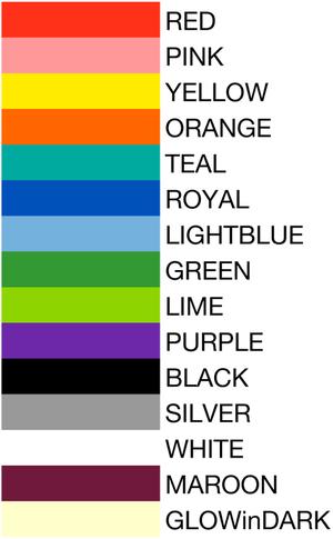 wristband textcolors artworkcolors
