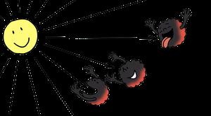 Absorption von Lichtstrahlen